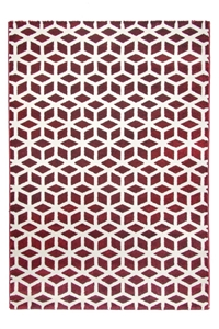 toscana cube red rug