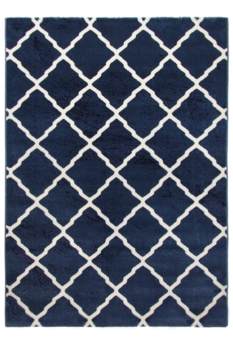 toscana lattice blue rug