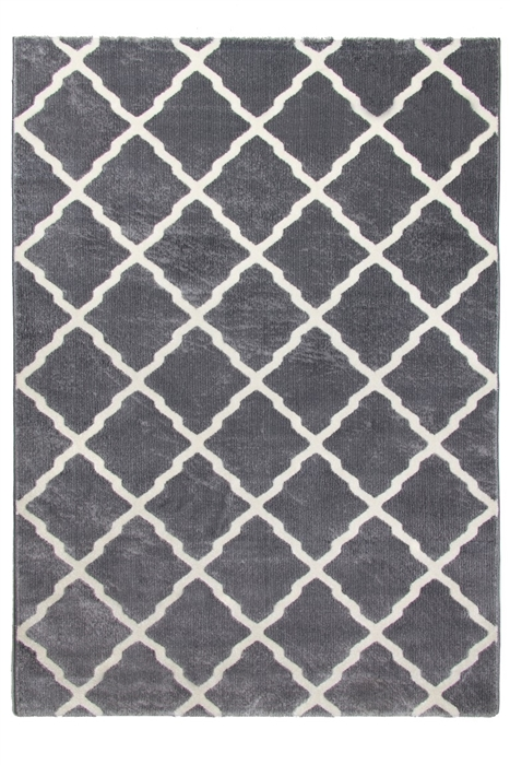 toscana lattice grey cream rug