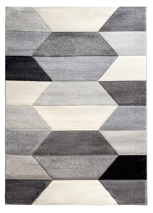 Impulse Hexa Geometric Rug - Grey