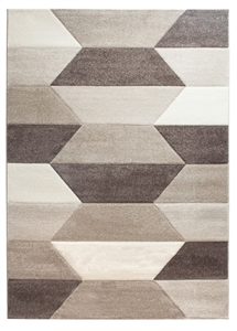 Impulse Hexa Geometric Rug - Beige / Brown