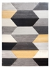 Impulse Hexa Geometric Rug - Grey/Yellow