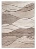 Impulse Waves Geometric Rug - Beige / Brown