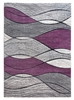 Impulse Waves Geometric Rug - Grey / Purple