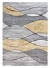 Impulse Waves Geometric Rug - Grey / Yellow