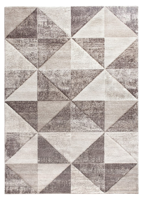 Impulse Triad Geometric Rug - Beige & Brown