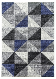 Impulse Triad Geometric Rug - Grey/Black/Navy