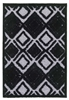 finesse motif high-low shaggy grey black rug