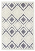 finesse motif high-low shaggy grey cream rug