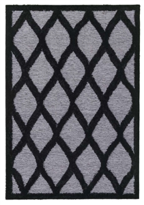 finesse tear drop high-low shaggy grey black rug