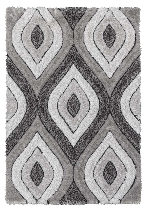luxus-teardrop-shaggy-rug-grey