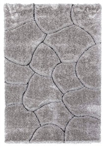 luxus-stones-shaggy-rug-grey