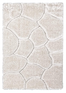 luxus-stones-shaggy-rug-cream