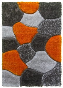 luxus-stones-shaggy-rug-grey-orange