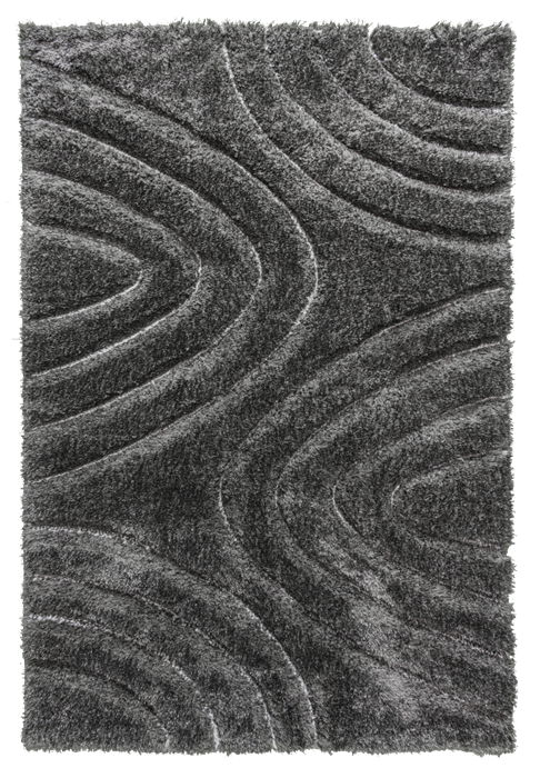 luxus-ripple-shaggy-rug-Anthracite