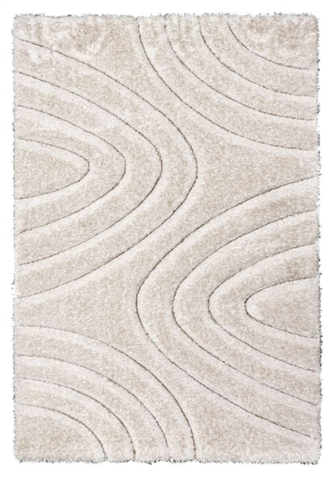 luxus-ripple-shaggy-rug-cream