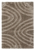 luxus-ripple-shaggy-rug-beige