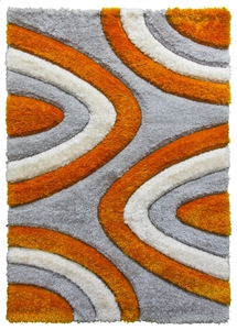luxus-ripples-shaggy-rug-grey-orange
