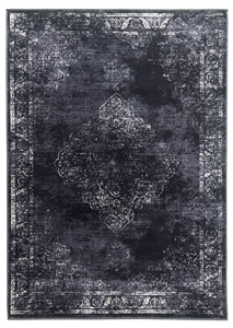 vintage classic charcoal rug