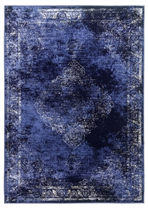 vintage classic navy rug