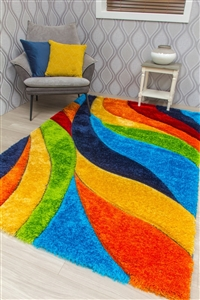 paradise-tropic-3d-shaggy-rug-multicoloured