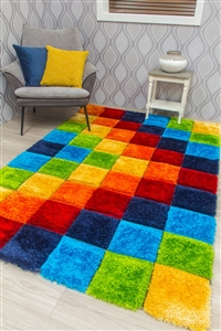 paradise-mosaic-3d-shaggy-rug-multicoloured