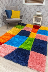 paradise-warp-3d-shaggy-rug-multicoloured