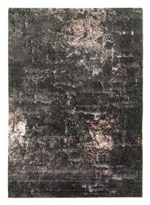 Bellini Mirage rug - dark grey / pink