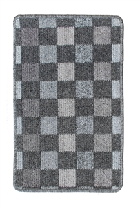 Patchwork Kitchen Mat - dark grey