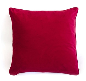 velvet cushion ruby