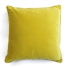 velvet cushion yellow