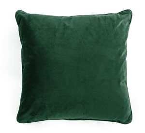 velvet cushion green