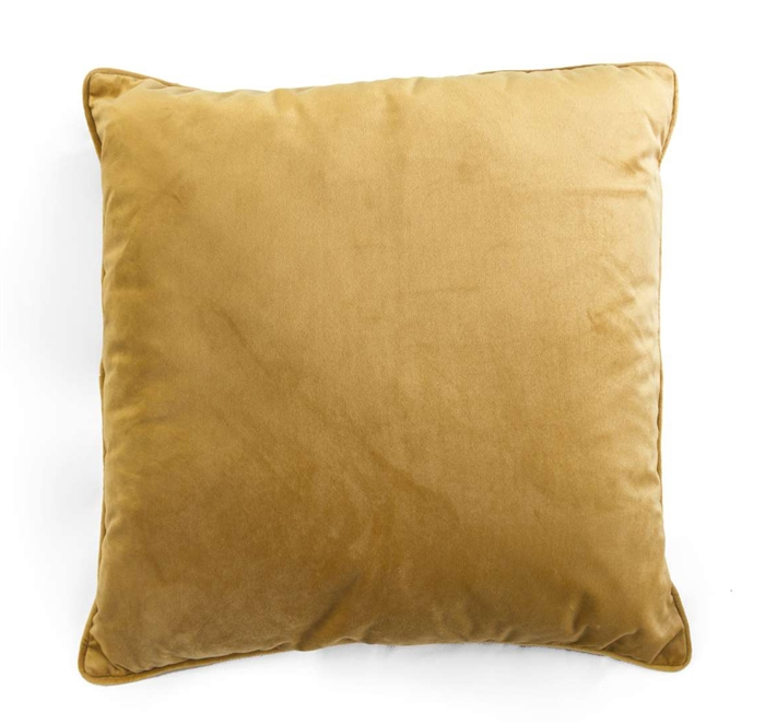 velvet cushion honey
