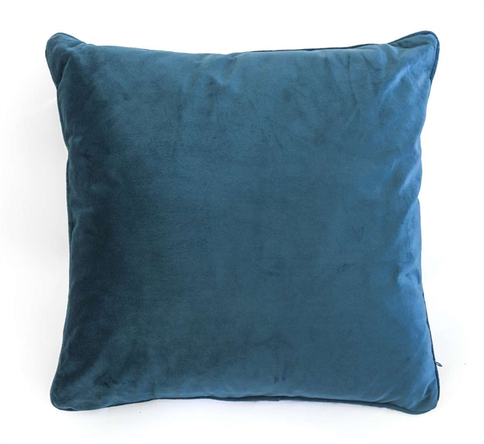 velvet cushion blue