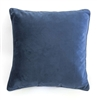 velvet cushion navy blue