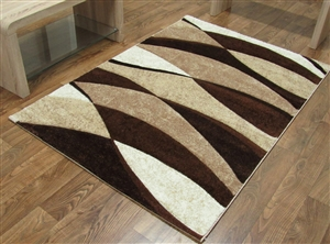 Tempo Wave Rug Brown/Beige