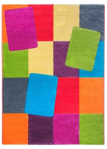 Candy Blocks Modern Rug