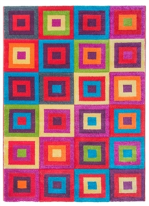 Candy Squares Modern Rug