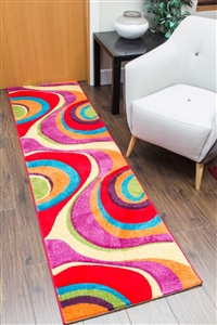 candy runner rug swirls