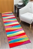 candy runner rug waves