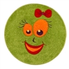 Green smiles Children's Rug