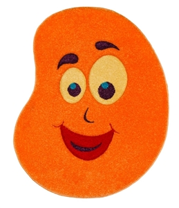 Orange-Bean-Children's-Rug