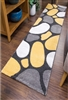 Pebbles Runner Rug Yellow Gray