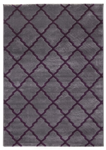 toscana lattice grey purple rug