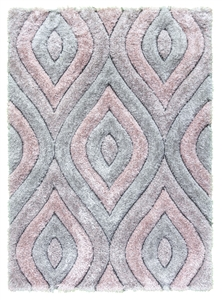 luxus-teardrop-shaggy-rug-grey-pink