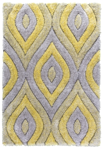 luxus-teardrop-shaggy-rug-grey-yellow