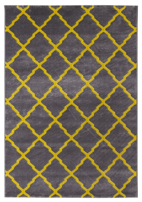 toscana lattice grey yellow rug