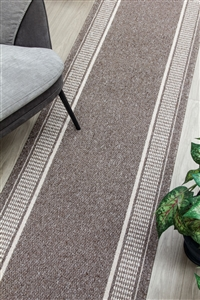 Promenade Kitchen Hall Runner Mat brown