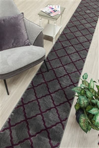Toscana hall stair runner grey purple
