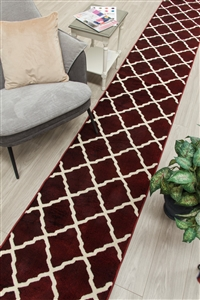 Toscana hall stair runner red